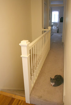 the banister, after