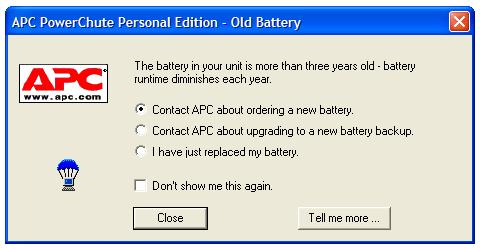 APC dialog box