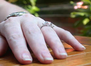 pretty ring on a beautiful girl