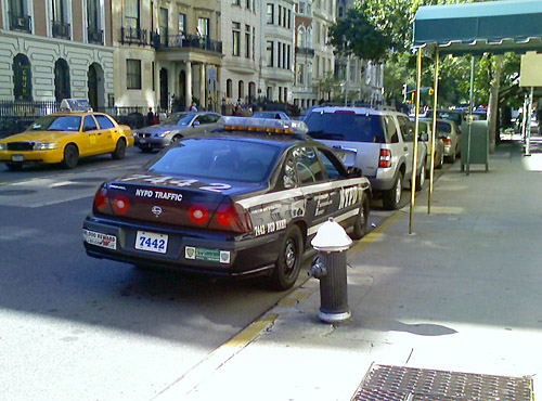 Don't worry about that illegal parking, Mr. Police Officer...