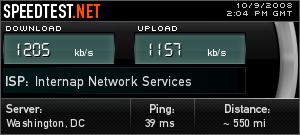 speed test over VPN